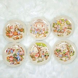 Country Kids Collector's Dessert Plates vintage